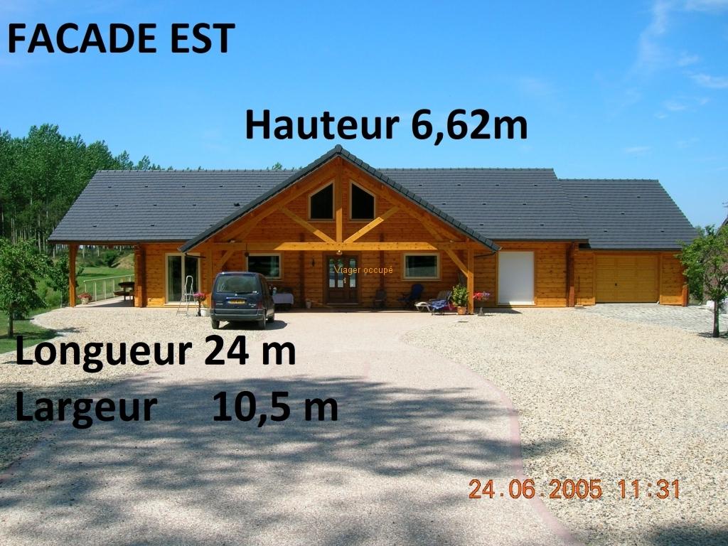 FACADE EST - viager sans rente - Un viager pour la vie - Viager immobilier placement - 02110 BOHAIN en Vermandois