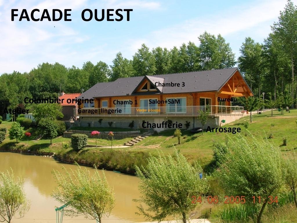 FACADE  OUEST - - Vente a terme - Viager immobilier placement - 02110 BOHAIN en Vermandois